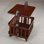 Propeller Mahogany End Table