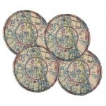 Custom U.S. Aeronautical Chart Sandstone Coasters (Set of 4)