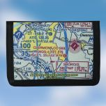 Custom U.S. Aeronautical Chart Tri-Fold Nylon Wallet