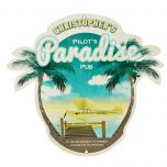 Personalized Pilot's Paradise Pub Metal Sign