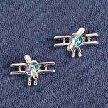 Biplane Silver-Tone Earrings