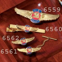 U.S. Pilot Wings Tie Bar