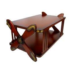 Propeller Mahogany Coffee Table