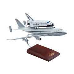B-747 with Shuttle Atlantis Mahogany Model (1:200 scale)