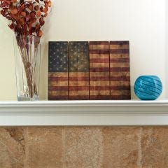 "Wooden American Flag Wall Art (33"" x 24"")"