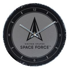 United States Space Force Slate Wall Clock