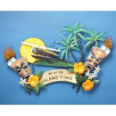 We're On Island Time Metal Wall Sculpture
