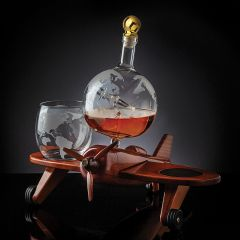 Airplane Decanter with Glassware Set