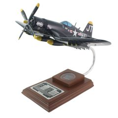 "F4U Corsair ""Korean War Hero"" Mahogany Model with Relic"