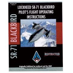 Lockheed SR-71 Blackbird Pilot's Flight Operating Manual