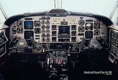 Super King Air 300 Cockpit Poster