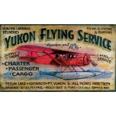 Yukon Flying Service Sign