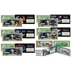 Space Shuttle Missions (Set of 6) Genuine Legal Tender $2 Bills
