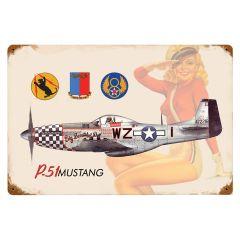 "P-51 Salute (5200-P51) 12"" x 18"""