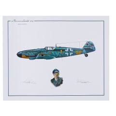 Erich Hartmann Limited Edition Signed Aircraft Print
