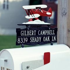 Personalized Bi-Plane Mailbox Sign