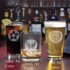 USAAF Insignia Logo Glassware
