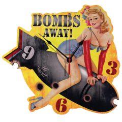 Bombs Away! Wall Clock