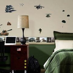 Military Peel & Stick Wall Decals (set of 32)