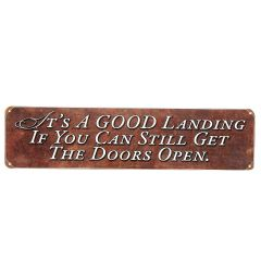 Pilot Humor Metal Signs