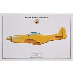 "Bob Hoover P-51 Mustang ""Ole Yeller"" Signed Aircraft Print"