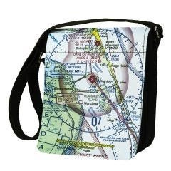 Custom U.S. Aeronautical Chart Shoulder Bag