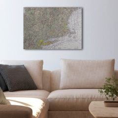 "Custom VFR Sectional Chart Canvas Wall Art (20"" x 30"")"
