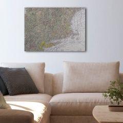 """Custom VFR Sectional Chart Canvas Wall Art (20"""" x 30"""")"""