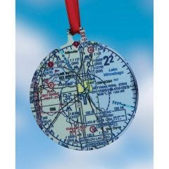 Custom U.S. Aeronautical Chart  Christmas Ornament