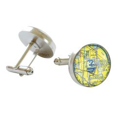 Custom U.S. Aeronautical Chart Cufflinks