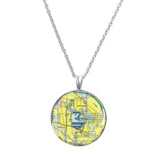 Custom U.S. Aeronautical Chart Necklace
