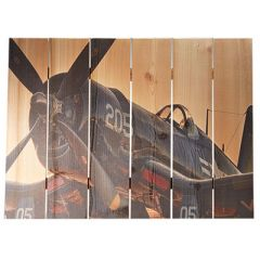 F4U Corsair Cedar Aviation Wall Art (large size)