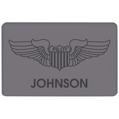Personalized Pilot Wings Doormat