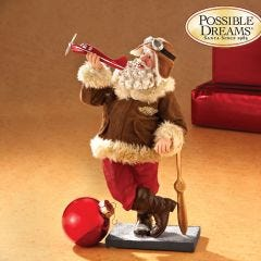 Fly Boy Santa Figurine