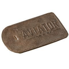Aviator Leather Luggage Tag