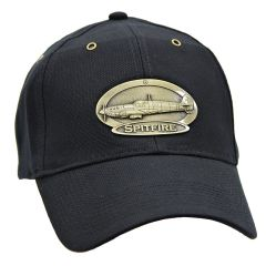 Spitfire Airplane Cap with Brass Emblems