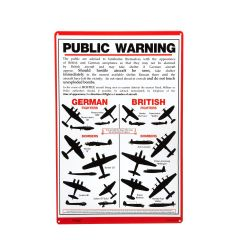 Public Warning Metal Sign