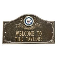 Personalized United States Navy Wall Plaques