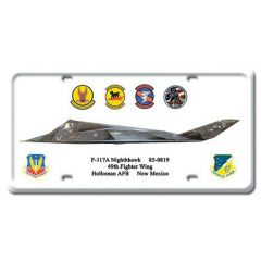 F-117A Nighthawk License Plate Cover