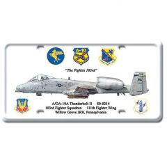 10A Thunderbolt II License Plate Cover
