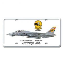 F-14D Super Tomcat License Plate Cover