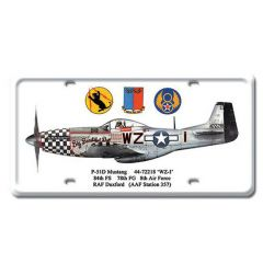 P-51D Mustang License Plate Cover