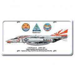 F-4B Phantom II License Plate Cover