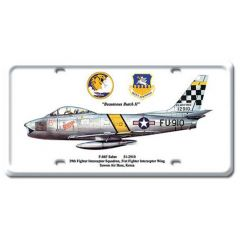 F-86F Sabre License Plate Cover