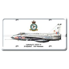 Lightning F.3 License Plate Cover