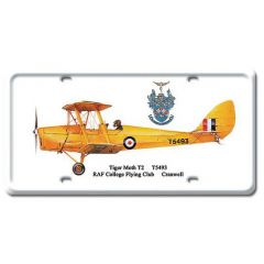 Tiger Moth T2 License Plate Cover
