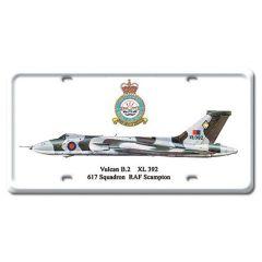 Vulcan B.2 License Plate Cover