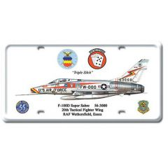 F-100D Super Sabre License Plate Cover