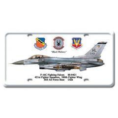 F-16C Fighting Falcon License Plate Cover