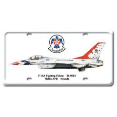 F-16A Fighting Falcon License Plate Cover